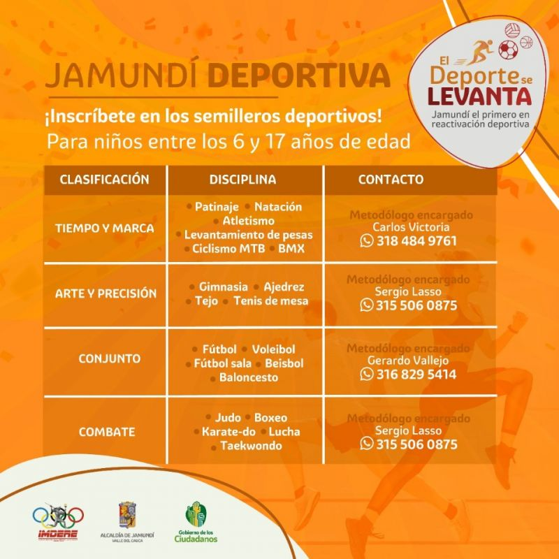 Invitan a niños y jóvenes a inscribirse en Escuelas de Formación Deportiva