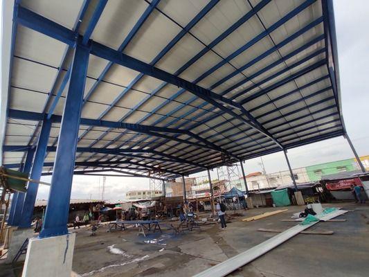 Gobernación entregó culminada la cubierta de la Plaza de Mercado