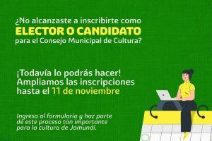 Se extiende convocatoria para conformar Consejo Municipal de Cultura